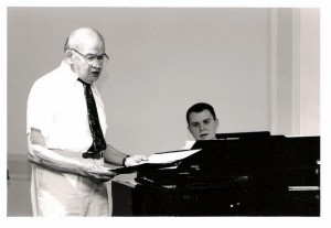 Steven singing with and accompanying his late grandfather, Edward Caldicott